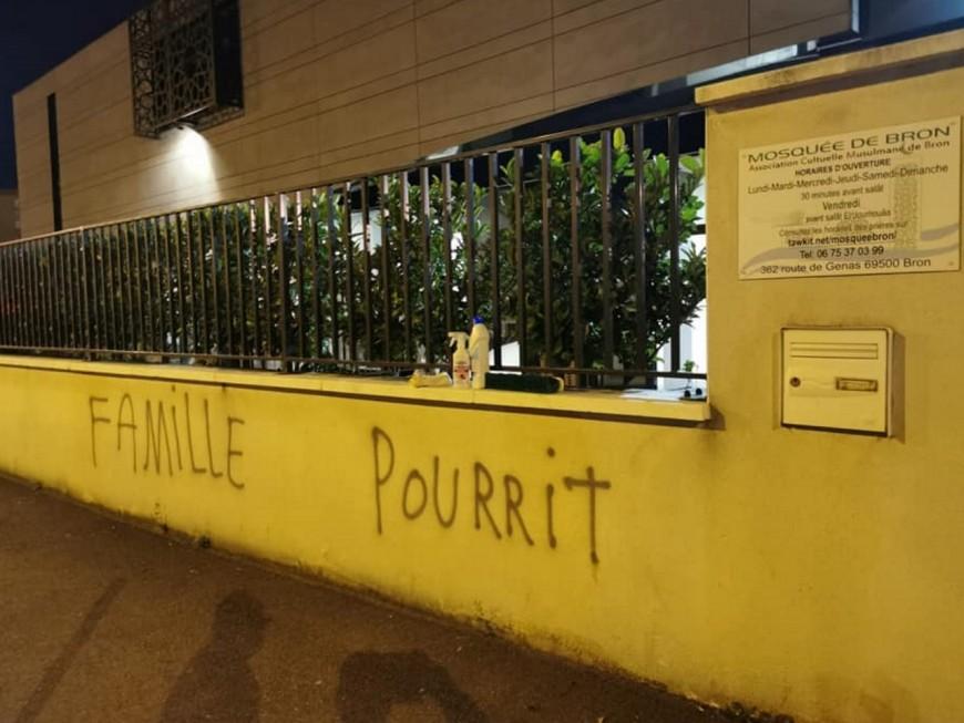 Près de Lyon : des tags découverts sur les murs de l'entrée d'une mosquée à Bron