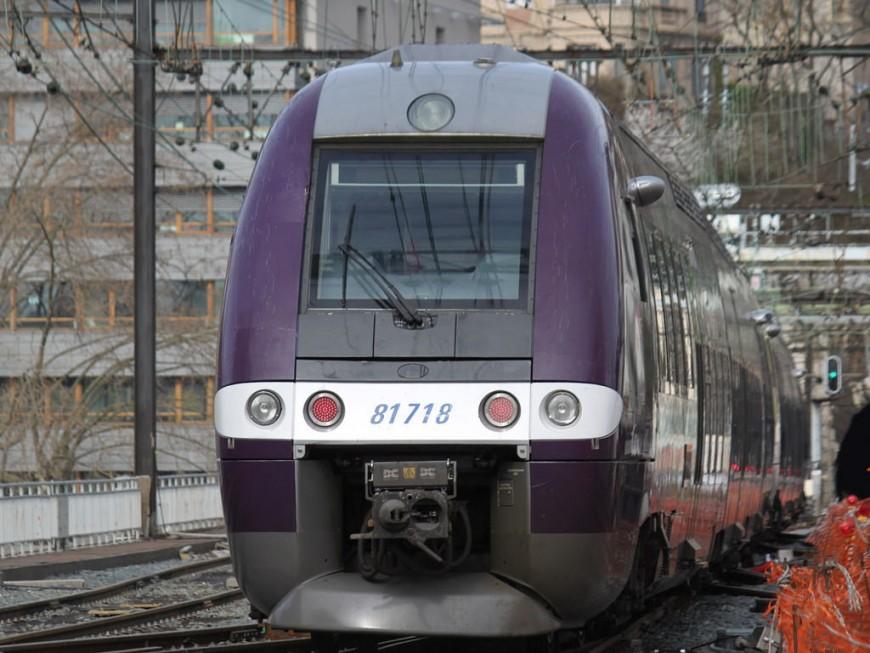 Le conducteur du train évite de justesse une personne sur les voies