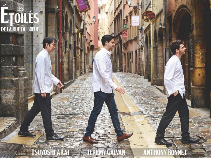 Lyon : les trois chefs étoilés de la rue du Bœuf préparent un menu à six mains d'exception