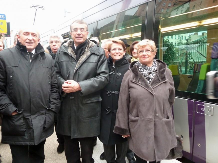 Inauguration du tram-train entre Brignais et Lyon Saint-Paul