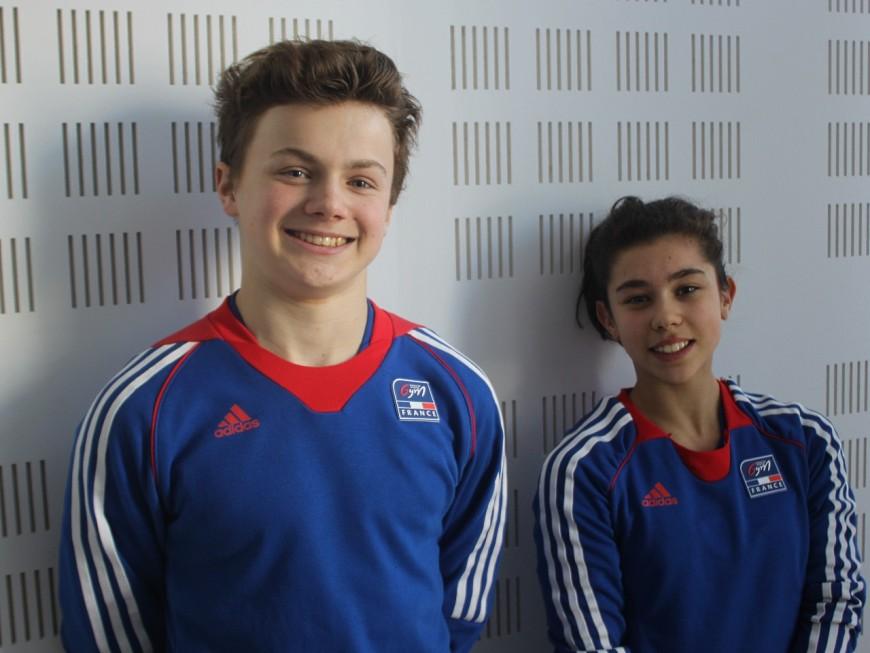Les Saint-Genois Jade et Florestan participent aux championnats d'Europe junior de trampoline