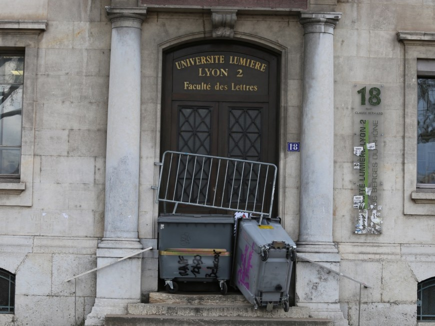 Blocage en cours sur les campus de l'université Lyon 2