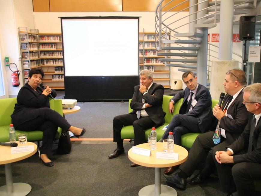 Frédérique Vidal, ministre de l'Enseignement supérieur, en visite à Lyon