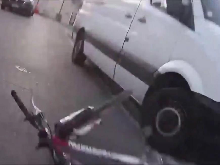 La vidéo d'un cycliste renversé à Villeurbanne fait le buzz !