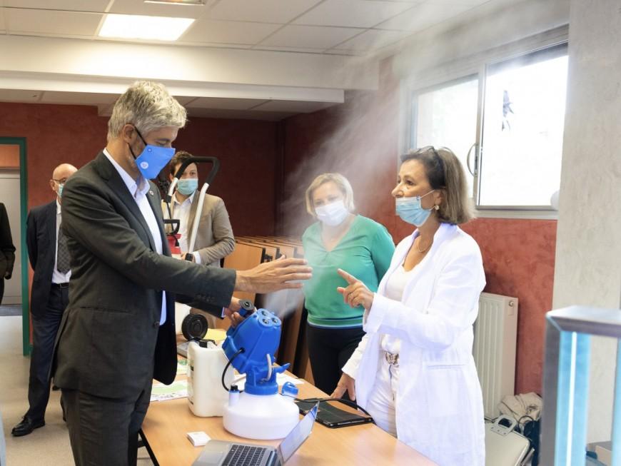 De nouveaux dispositifs de protection sanitaire expérimentés dans les lycées d'Auvergne-Rhône-Alpes