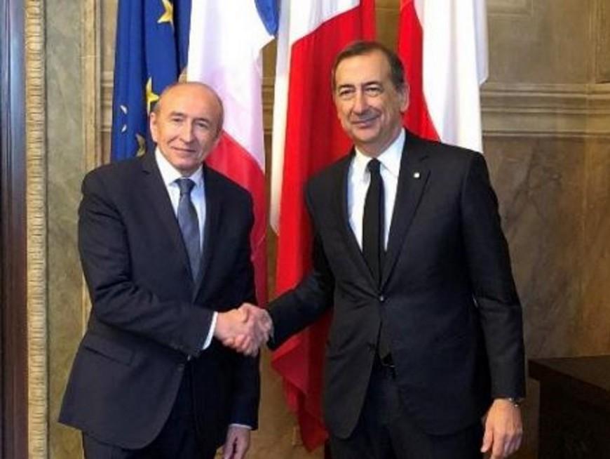 """Lyon-Turin : Gérard Collomb et son homologue milanais """"soutiennent ce projet fondamental"""""""