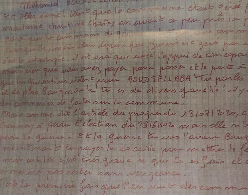 Lettre de menaces envoyée au maire de Givors : le suspect condamné à six mois de prison ferme