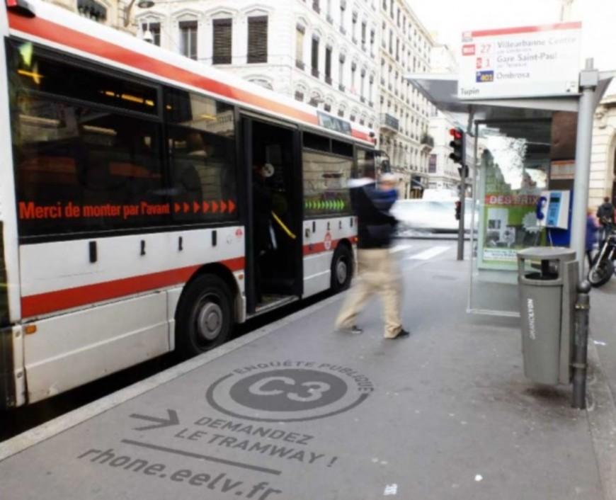 Des cleantags pour demander le remplacement du C3 par un tramway