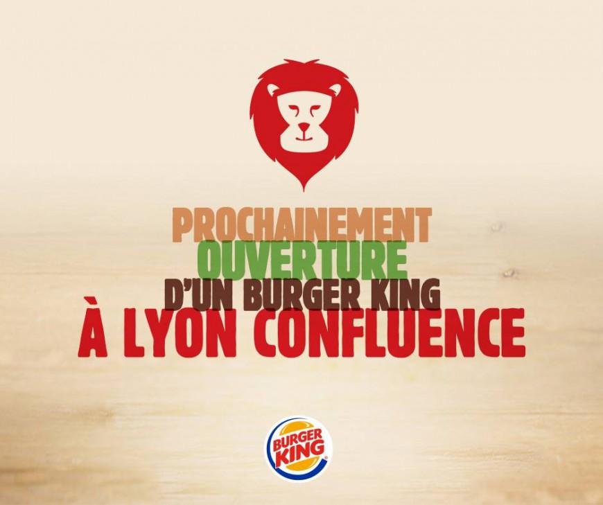 Burger King commence à communiquer sur son implantation à Lyon