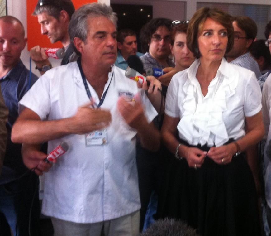 Canicule : Marisol Touraine au chevet du SAMU à Lyon