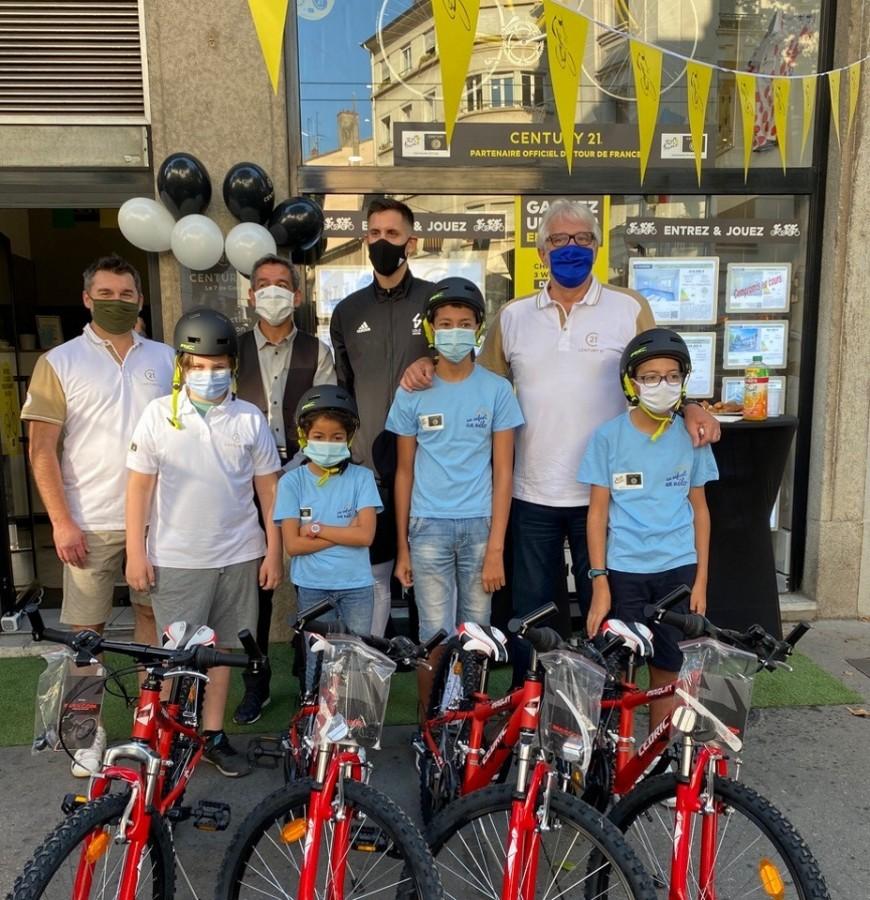Lyon : des vélos offerts aux enfants défavorisés