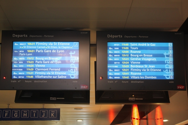 Lyon Part-Dieu dans le top 10 des destinations où les trains sont le plus en retard