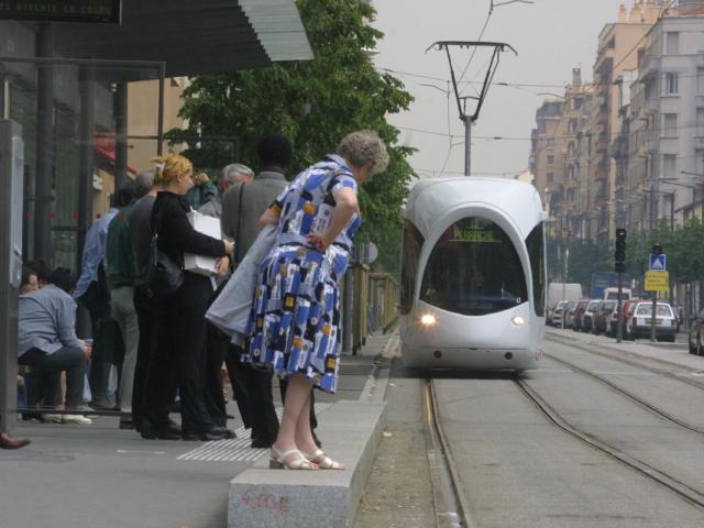 Un chien coincé sous une rame de tramway à Lyon