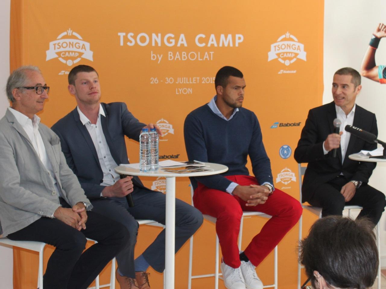 Jo-Wilfried Tsonga, aux côtés du président du Tennis Club de Lyon - LyonMag.com