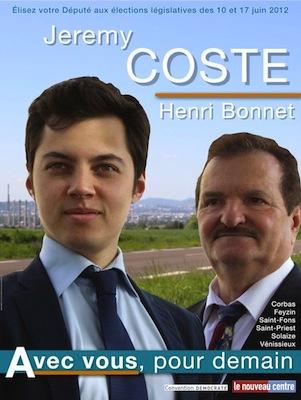 Législatives : l'affiche d'un candidat du Rhône moquée sur la toile