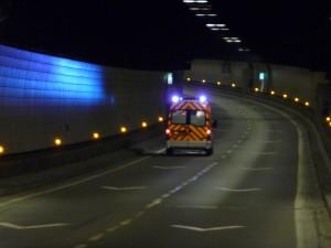 Un accident et un incendie sous le tunnel de Fourvière, le scénario catastrophe d'un exercice de sécurité