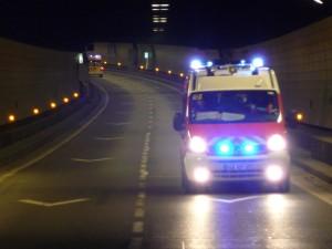 Un accident mortel sous le tunnel de Caluire