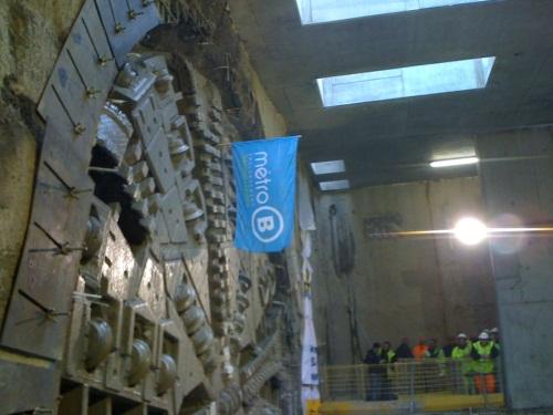 Le chantier du prolongement de la ligne B du métro avance à grands pas