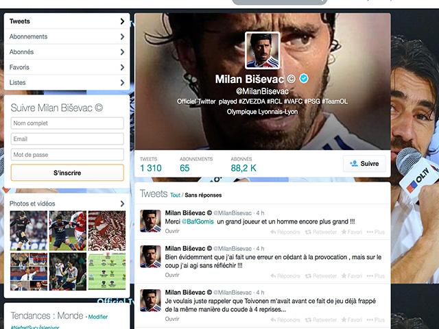 OL : le vrai faux-départ de Twitter de Bisevac