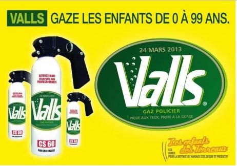 Un collectif anti-mariage pour tous de Lyon détourne le logo des eaux de Vals