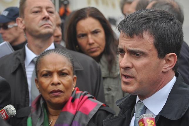 Trois Roms morts dans un incendie à Lyon 8e : Valls et Taubira se sont rendus sur place