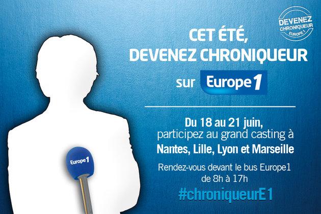 Europe 1 recherche de futurs chroniqueurs à Lyon