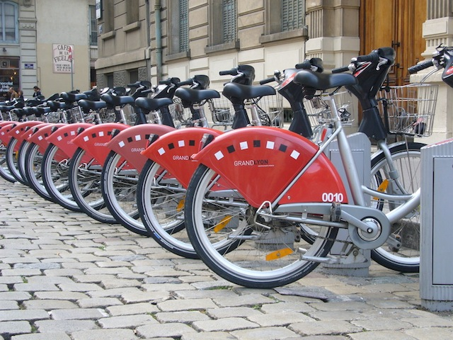 Le Vélo'v refête ses sept ans à Lyon